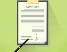41187550 - contract sign up paper document pen signature office desk