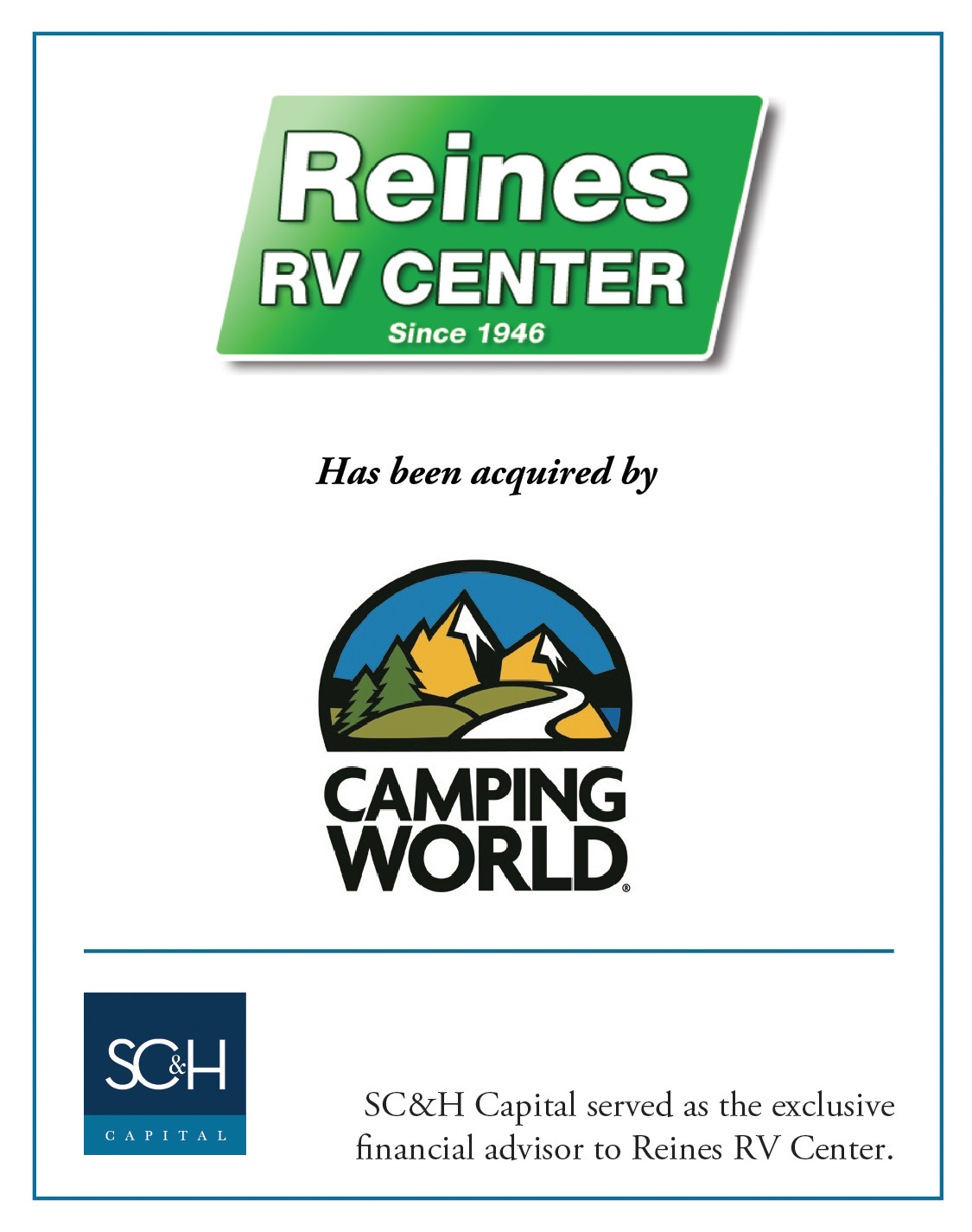 Reines Camping World Capital Tombstone