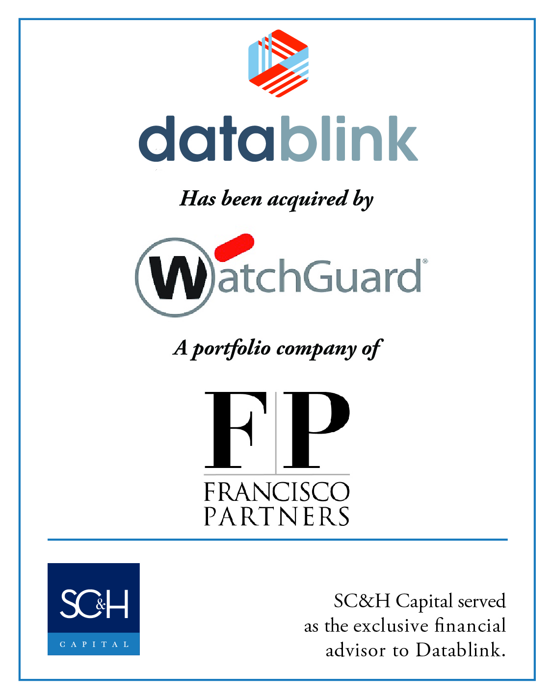 Datablink Acquired by WatchGuard Technologies
