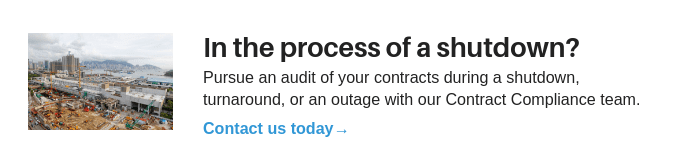 Contract Audit During Shutdown, Turnaround, or Outage